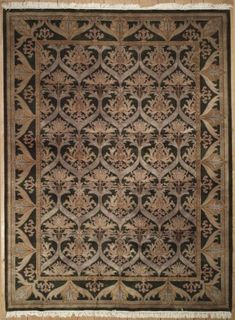 New Contemporary Indian Area Rug 38510 - Contemporary Area Rugs, Rectangular Rugs, Colorful Backgrounds, Wool Rug, Restoration, Indian, Antiques, Handmade, Antiquities