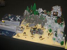 Lego Omaha Beach | Flickr - Photo Sharing! Lego Ww2 Tanks, Lego Zombies, Lego Structures, Lego Army, Lego City Sets, Amazing Lego Creations, Lego Builder, All Lego, Lego Design