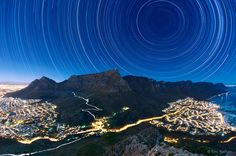 Cape Town, South Africa, night sky photo