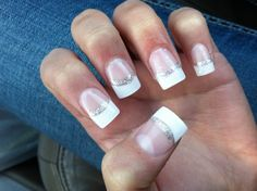 My Prom nails.. French tips with glitter :D