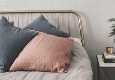 Alana Kingsize Bed, Brushed Brass