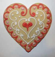 How perfect is this heart for Valentine's Day! ArtGirl Cookies