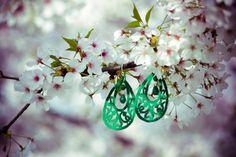 green Alambra earrings