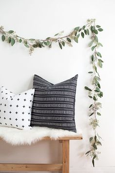 How to make a simple garland with greenery.