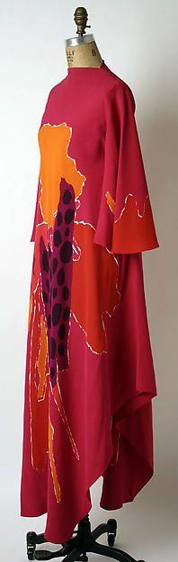 Silk evening dress by James Galanos, 1967 #1960s fashion