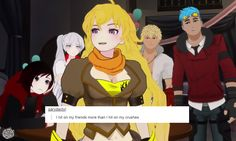 """RWBY: """"I hit on my friends more than I hit on my crushes"""" - Yang"""