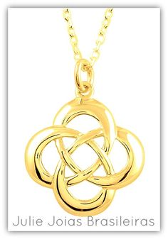 Pendente® em ouro 750/18k (750/18k gold pendant® with our symbol)