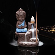 Incense Burner - Little Buddha (free incense cones)
