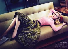 Lara Stone for US Vogue, 2010. Photographed by Mert & Marcus