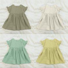 Fashion 2020, Kids Fashion, Dress Anak, Baby Girl Dress Patterns, Ruffle Sleeve Dress, Girls Dresses, Summer Dresses, Baby Makes, Baby Kids Clothes