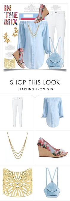 """""""In The Mix: Baby Blue & White"""" by helenaymangual ❤ liked on Polyvore featuring rag & bone, Bloomingdale's, TOMS, Vélizance and MANU Atelier"""