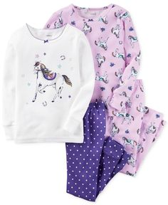 Carter's 4-Pc. Ponies Pajama Set, Toddler Girls (2T-4T)