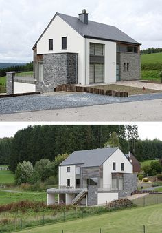 Barn House Conversion, Villas, Barn House Plans, House Extensions, Detached House, Home Remodeling, Exterior, Outdoor Structures, House Design