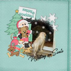 Santa Paws by FranB Designs - page by Jennifer - http://www.plaindigitalwrapper.com/shoppe/product.php?productid=14936