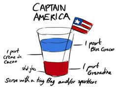 The Avengers Drinks - Captain America