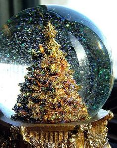beautiful snow globe