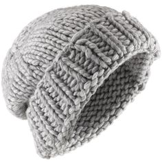 Jigsaw Chunky Knit Beanie Hat ($35) ❤ liked on Polyvore featuring accessories, hats, beanies, headwear, grey, grey beanie hat, beanie cap hat, gray beanie, thick knit hat and gray hat
