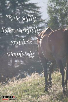 Ride, listen, love...
