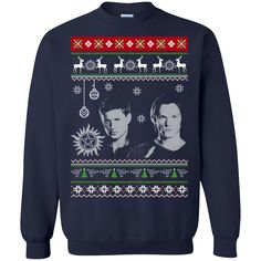 Christmas Ugly Sweater Supernatural Dean And Sam Hoodies Sweatshirts