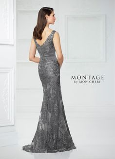 Montage by Mon Cheri - 217942 Embroidered Ruched Sheath Gown Gala Dresses, Nice Dresses, Peplum Dresses, Formal Dresses, Fashion Dresses, Montage By Mon Cheri, Dresser, Costume, Groom Dress