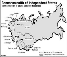 In early December, Yeltsin and the leaders of Ukraine and Belarus met in Brest to form the Commonwealth of Independent States (CIS), effectively declaring the demise of the Soviet Union. Soviet Union, Commonwealth, Ukraine, Russia, December, Peace, Education, Federal, Learning