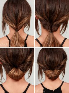 Simple Chignon - Easy Hairstyles You Can Do In 5 Minutes - Photos