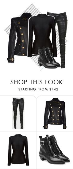 """""""Untitled #1518"""" by saskiasnow ❤ liked on Polyvore featuring Oris, Balmain, Marc by Marc Jacobs, women's clothing, women, female, woman, misses and juniors"""