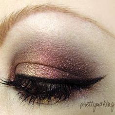 Not only do I wish I could do this eyeshadow but I wish my eyebrows looked like that.