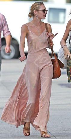 Slip dress. Candice Swanepoel.