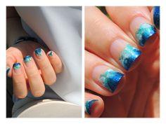 Sea nail art.