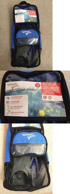 Snorkels and Sets 71162: New! Adult Speedo Dive Snorkel Set Size S M Googles, Snorkel, Dive Fins, And Bag -> BUY IT NOW ONLY: $35 on eBay!
