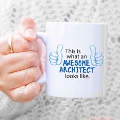 """Christmas Gift for architect """"awesome architect"""" coffee mug,architect gift, architect mug, architecture gifts, presents for architects MU419 by artRuss on Etsy"""