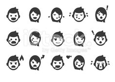 Emotion People Icons royalty-free stock vector art