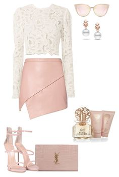 """Untitled #20"" by anacha on Polyvore featuring Michelle Mason, Yves Saint Laurent, A.L.C., Giuseppe Zanotti, Vince Camuto and Escalier"