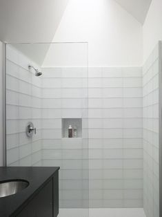 unique yet simple contemporary design inspirations for your home bright modern bathroom white tile shower