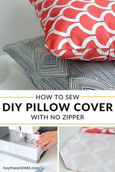 Easy tutorial for DIY envelope pillow covers so you can add a pop of color to your home decor or update your space for any season. #sewingproject #madewithfabric #sewing #sewing101 #pillowcovers #sewingpattern #livingroomdecor #homedecor #DIYhomedecor #diydecor #handmade #sew #bedroomdecor #homedecorating Diy Pillow Covers, Diy Pillows, Toss Pillows, Cushions, Cushion Covers, Decorative Pillows, How To Make An Envelope, Diy Envelope, Cool Diy Projects