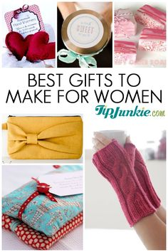 Best Homemade Gifts To Make For Women. Cute Clutch!