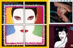 Album covers for The Motels, The Cars, and Duran Duran