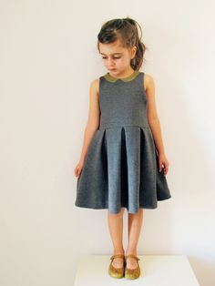 """Just add sleeves: """"Blake Dress"""" Sewing pattern by Mingo&Grace - La Folie Sewing Booth Sewing Patterns For Kids, Sewing For Kids, Baby Sewing, Clothing Patterns, Dress Patterns, Sewing Clothes, Diy Clothes, Dress Sewing, Ladies Clothes"""