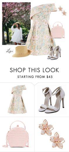 """""""Spring Blossoms"""" by coolmommy44 ❤ liked on Polyvore featuring Topshop, Nancy Gonzalez, NAKAMOL and Eric Javits"""