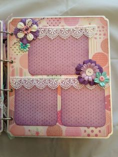 Mini Album Cookbook: Baby Girl Mini Album ~ Created by Scrappin' Jubilee........ They don't get much prettier than this!!!