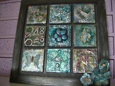 My Take on Craft: Metal Embossed Tiles.  Love this.
