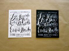 "8x10 ""Philippians 4:8"" Calligraphy Sign on Etsy by Phoebe Thomas"