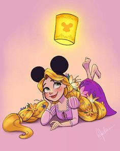 Rapunzel loves Mickey