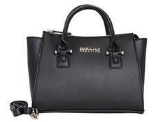 Kenneth Cole Reaction KN1550 Magnolia Handbag Top Handle Messenger Crossbody Shoulder Bag (BLACK) #shoulderbags #crossbodybags