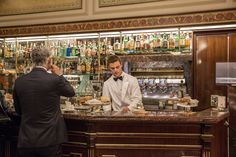 Caffè Cova, opened in 1817 on Via Monte Napoleone, is just a few steps from the new Marchesi cafe in Milan. (Photo: Andrea Frazzetta for The New York Times)
