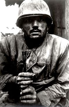 Don McCullin shot of a shell shocked US soldier in Vietnam