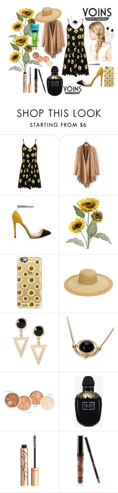 """""""Yoins Playsuit Contest!"""" by amyr1 ❤ liked on Polyvore featuring ASOS, Pier 1 Imports, Casetify, Alexander McQueen, Charlotte Tilbury, black, playsuit, sunflowers, yoins and yoinscollection"""