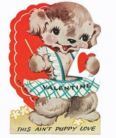 """""""Puppy Love"""" Vintage Valentine"""