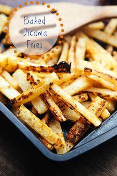 Jicama Fries - a healthier burger side!